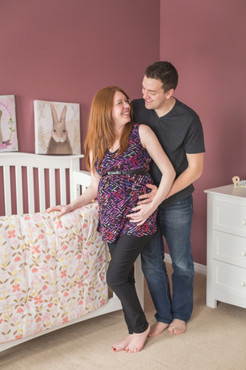 Expecting couple in baby