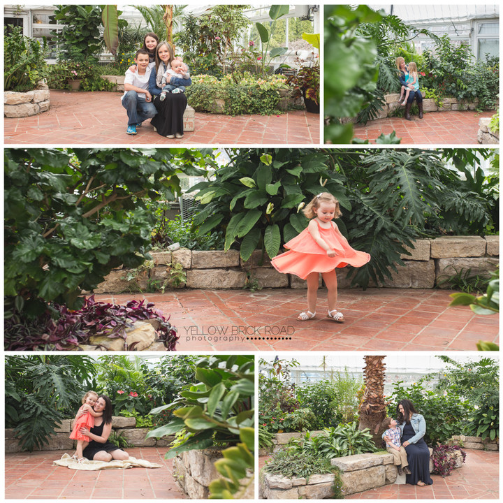Collage of Yellow Brick Road Photography mom and me sessions