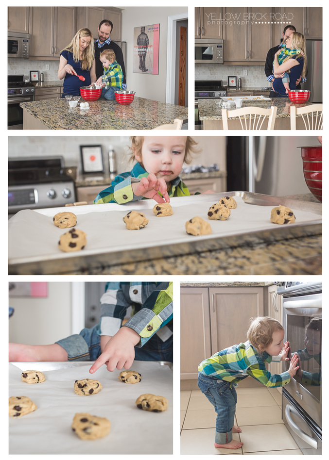 Kitchener lifestyle session baking cookies for a Maternity session
