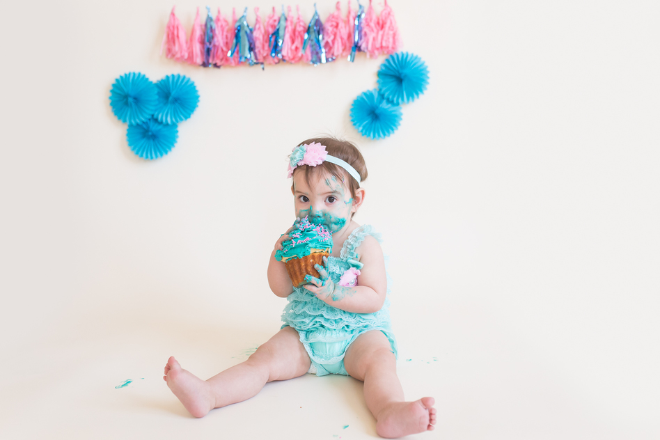 Baby Girl Cake Smash Photography Romper