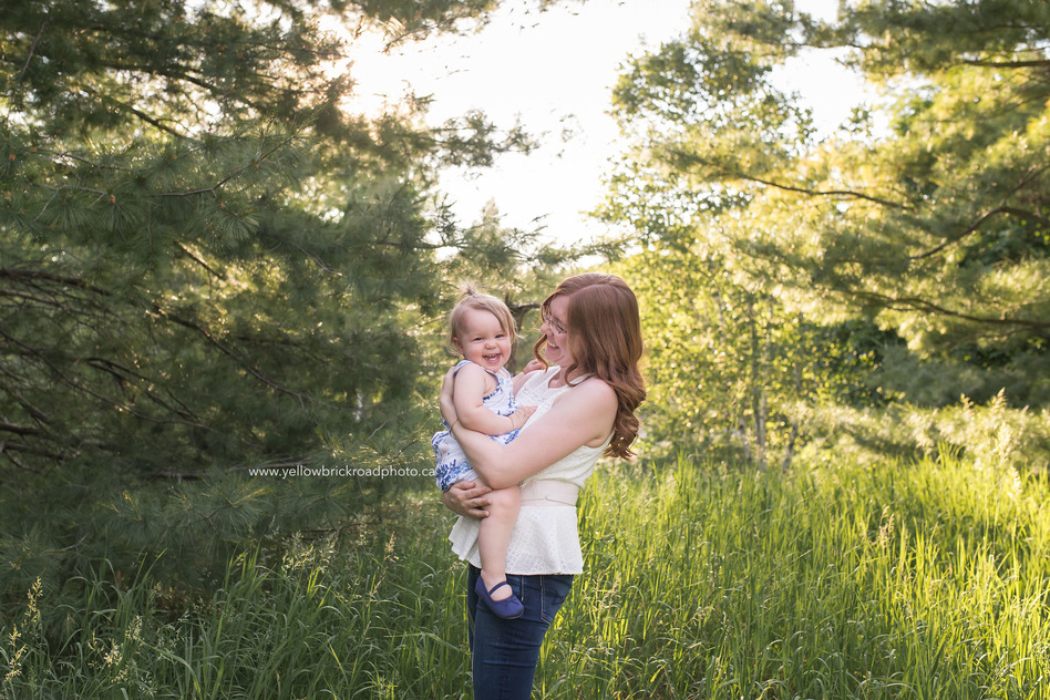 Breslau Family Photographer Mother Daughter smiling in forest