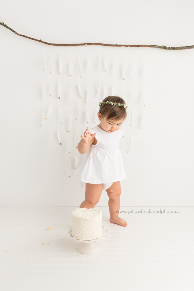 First Birthday Session Cake Smash Photographer www.yellowbrickroadphoto.ca