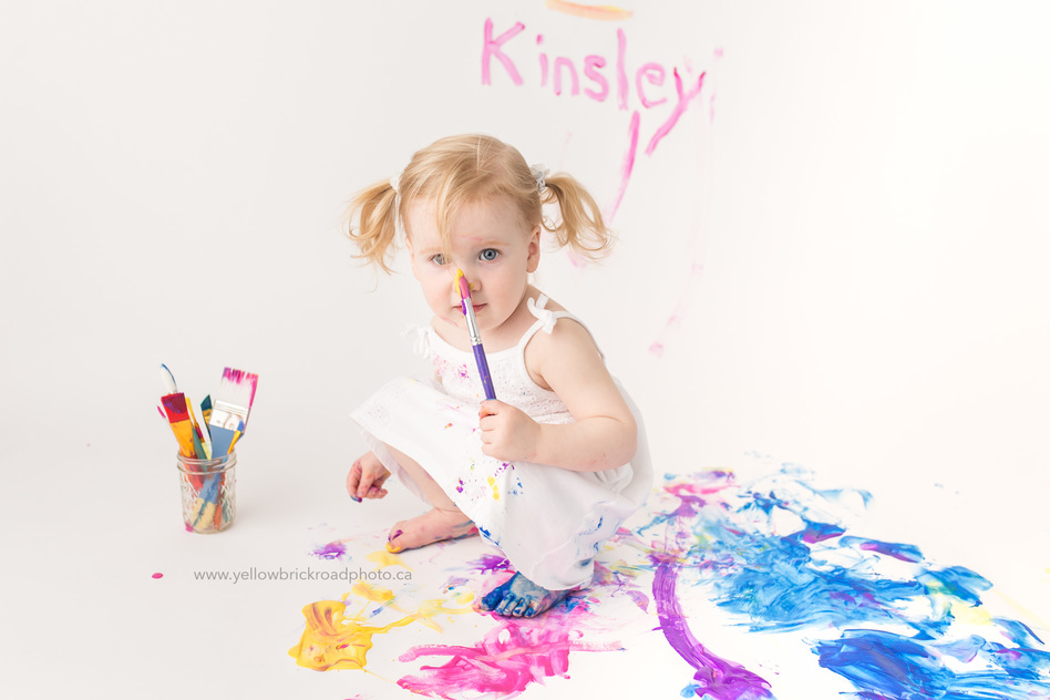 Guelph Child Photographer Paint Smash Second Birthday www.yellowbrickroadphoto.ca