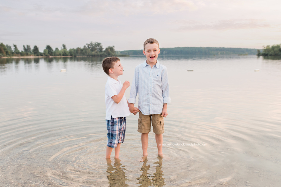 Guelph Lifestyle Photographer brothers in lake