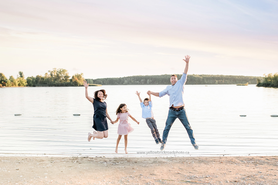 Family Photographers Guelph Sunset session