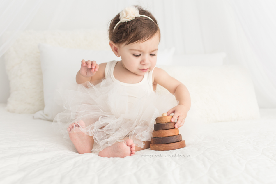 First birthday cake smash white theme