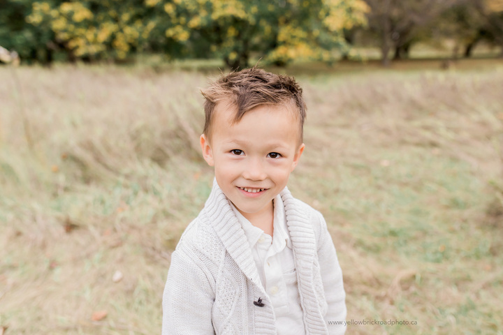Fall Family Photography youngest son close up portrait